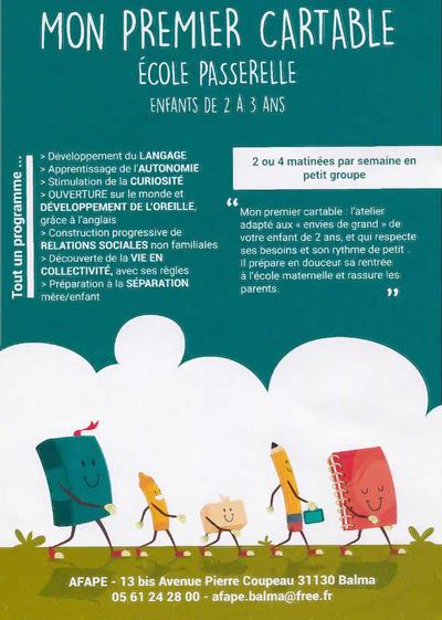 MON PREMIER CARTABLE (AFAPE) 31130 Balma